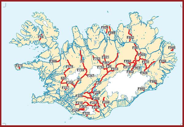 F roads conducir en islandia en invierno