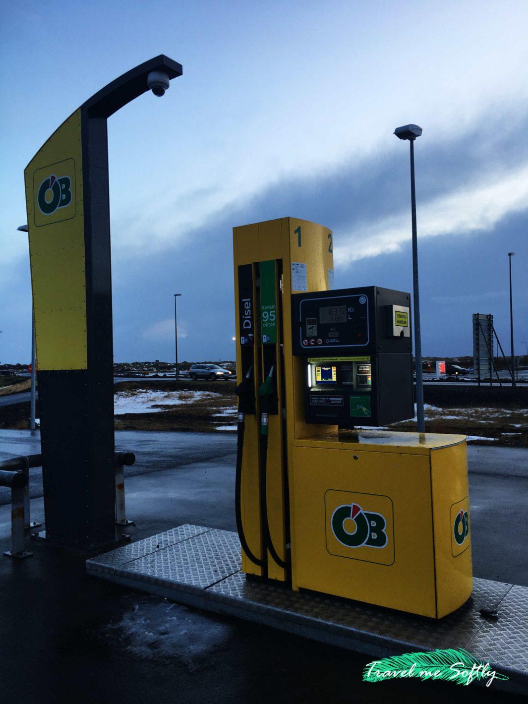 gasolinera conducir en islandia en invierno