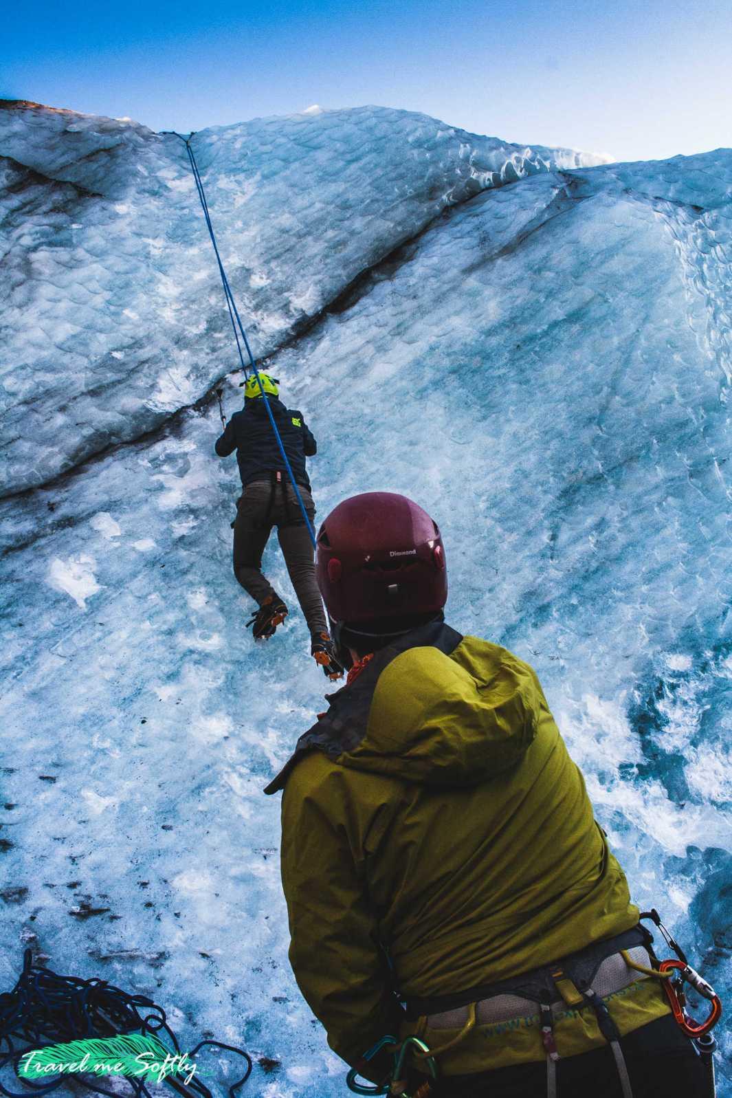 seguridad escalada en hielo