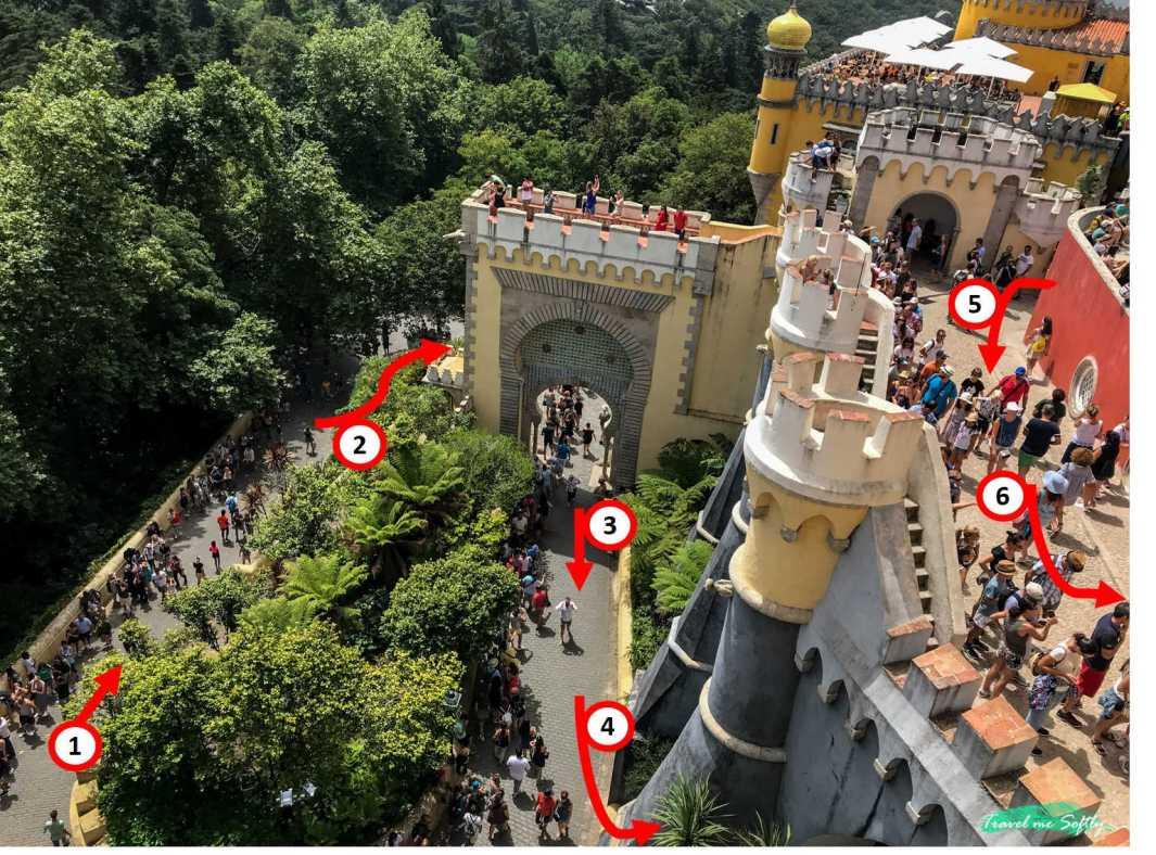 colas al visitar sintra palacio
