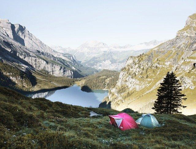 ir de camping vistas