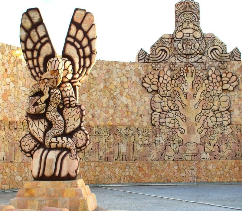 Mexican carved monument
