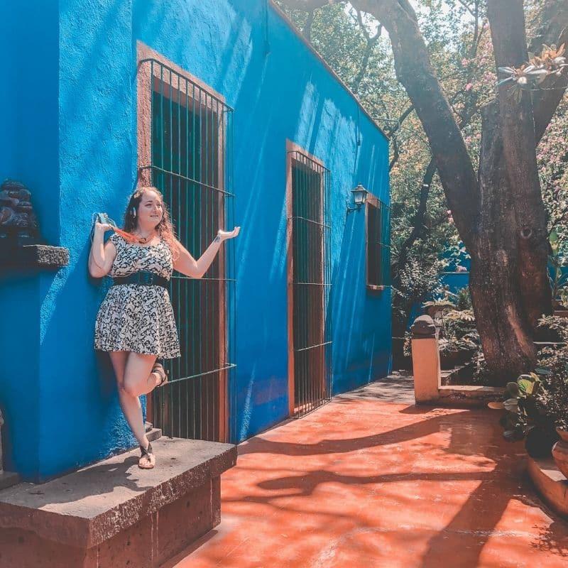 Casa Azul (Blue House) AKA Frida Kahlo Museum in Coyoacan, Mexico
