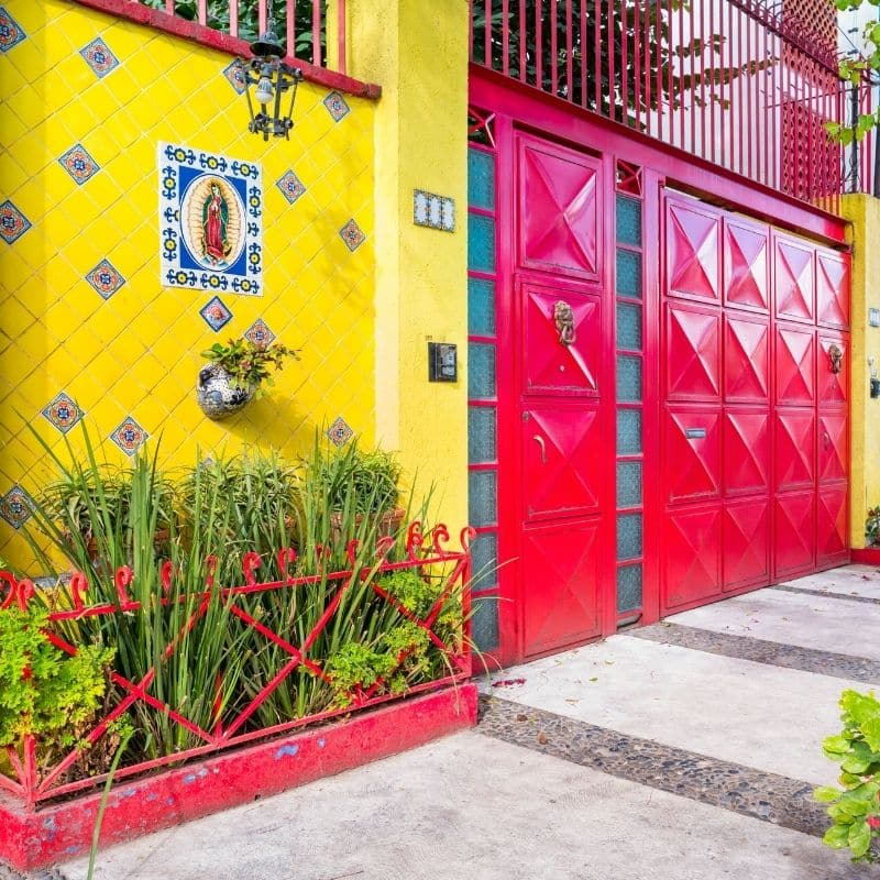 Colorful buildings in Coyoacan