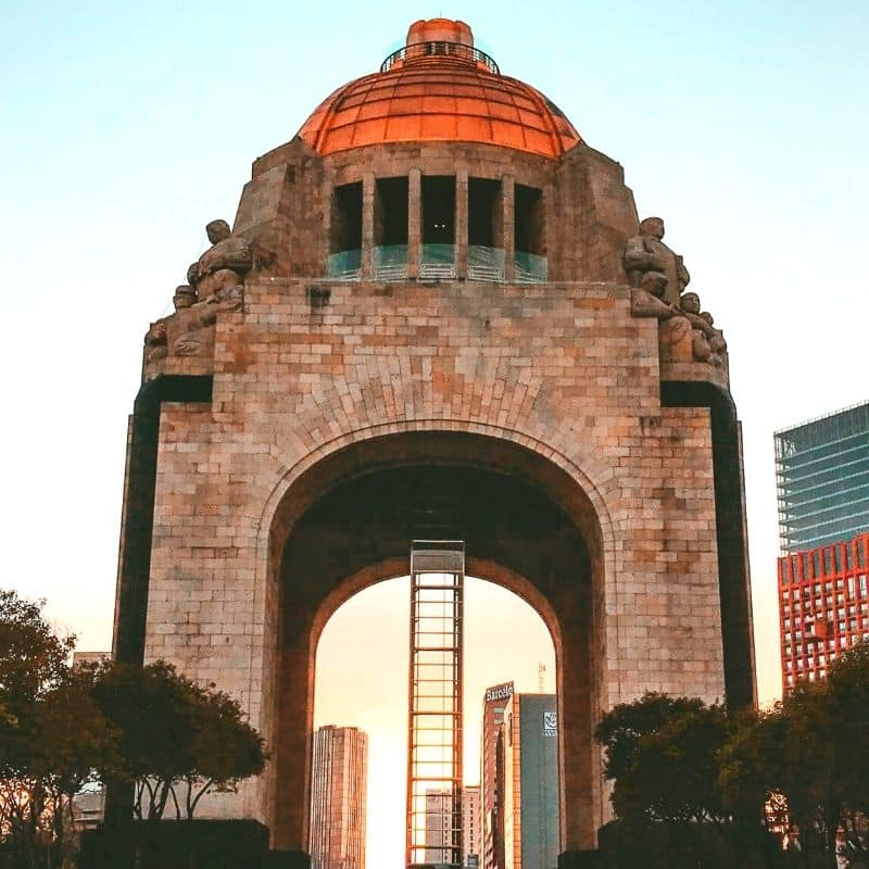 Large domed Monument to the Revolution in Mexico City