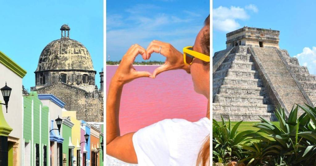colonial city, pink lakes, and chichen itza - three day trips from Merida
