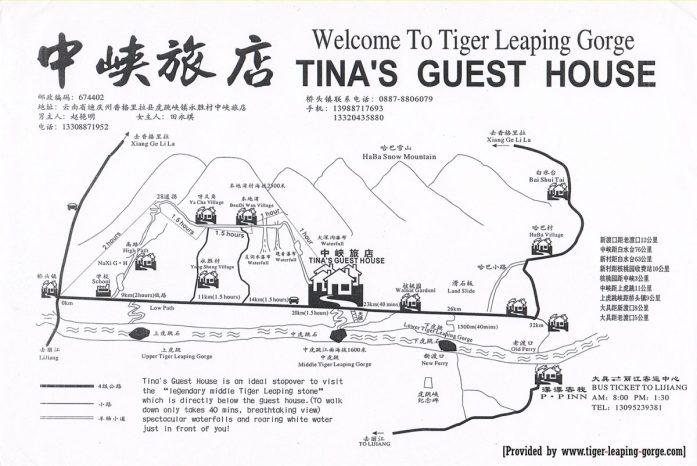 Gola del salto della tigre mappa