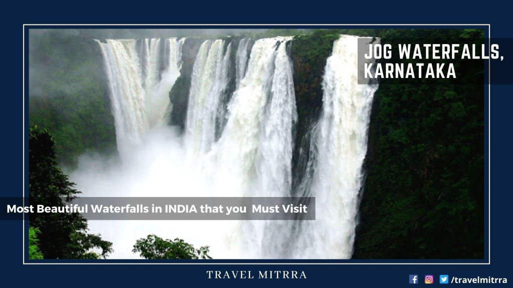 Most Beautiful Waterfalls in India | Jog Waterfalls, Karnataka | Waterfalls | Karnataka Tourism | India Tourism | Travel Mitrra | Blogs by travel mitrra | Travel Mitrra Blogs