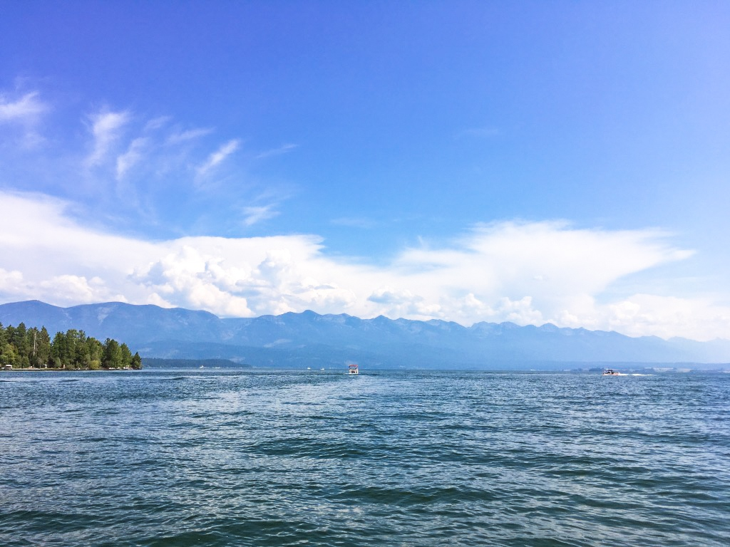 Boating on Flathead Lake