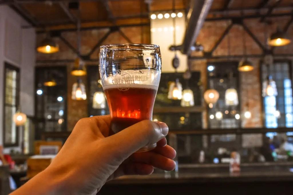 Beer Tasting Along Billings Brew Trail in Montana.