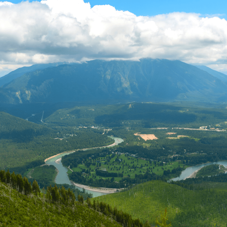 Flathead River Valley in Montana