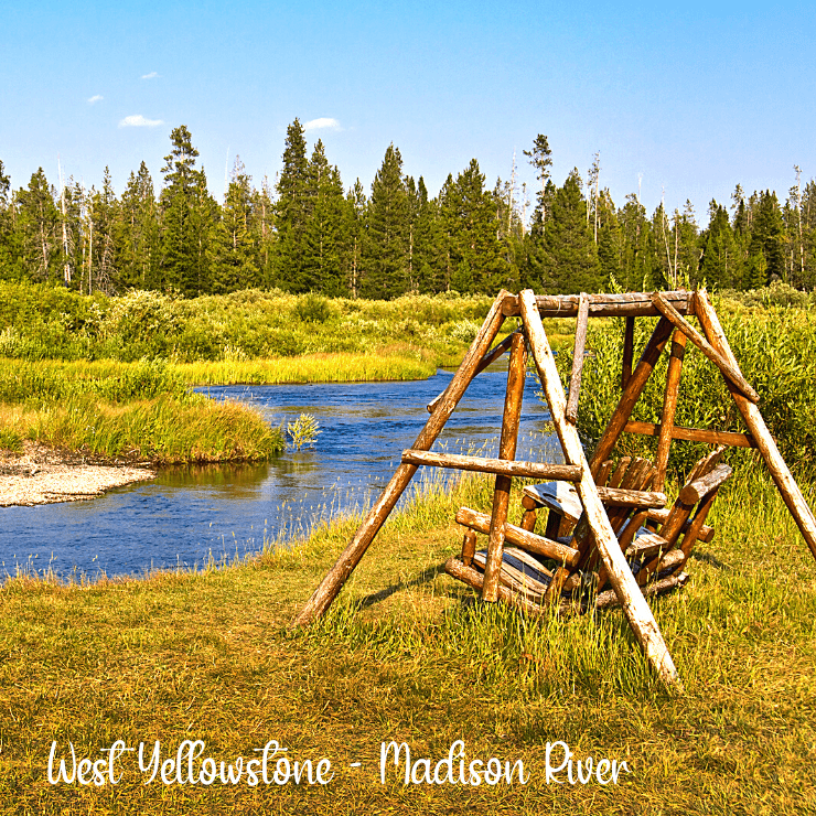 View of the Madison River near West Yellowstone