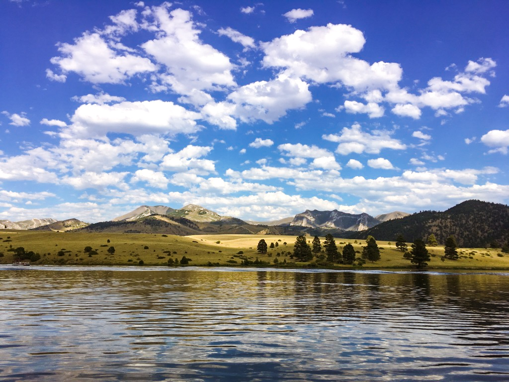 Summer days on Holter Lake in Montana. Summer is one of the best times to visit Montana for gorgeous weather.