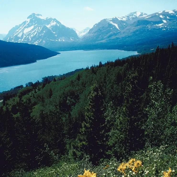Two Medicine Lake in Glacier National Park