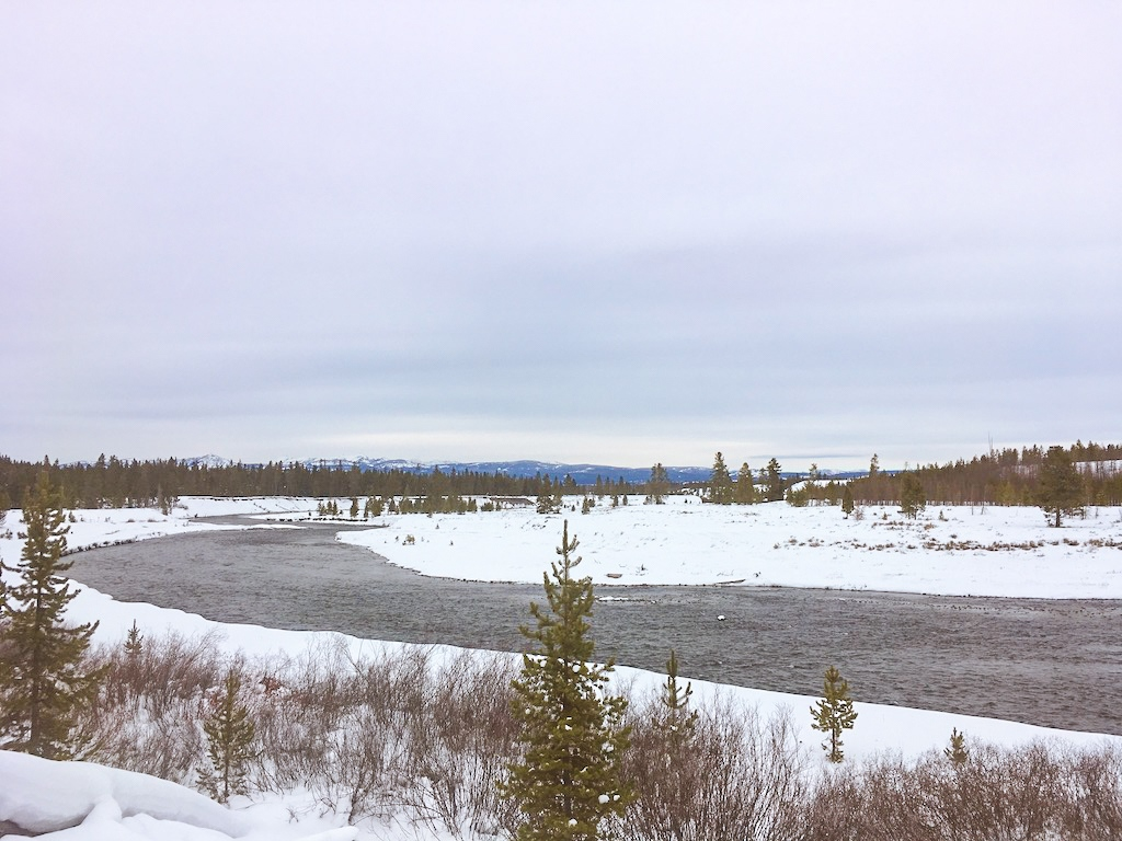 Yellowstone views during a January cross-country ski trip.