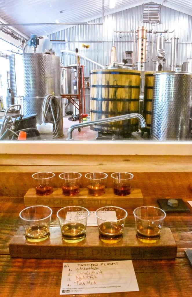 Whiskey Tasting at Glacier Distilling Company in Coram, Montana