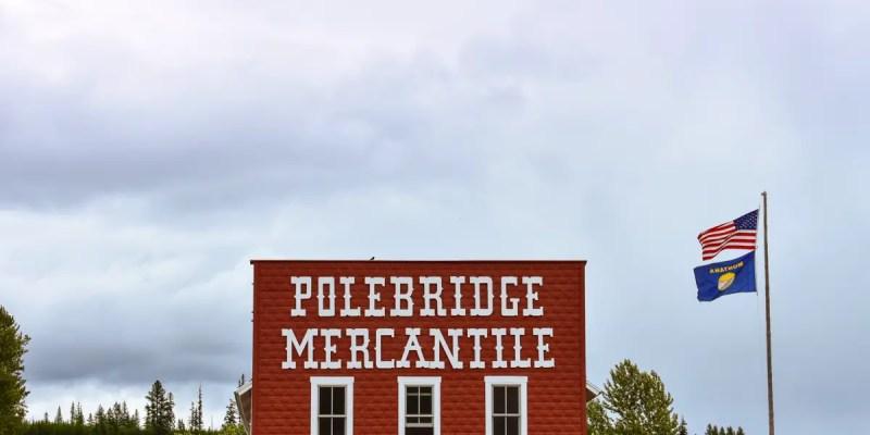 Polebridge, Montana is a tiny town located near Glacier National Park