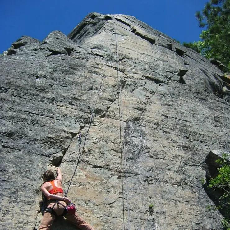Rock climber in Montana