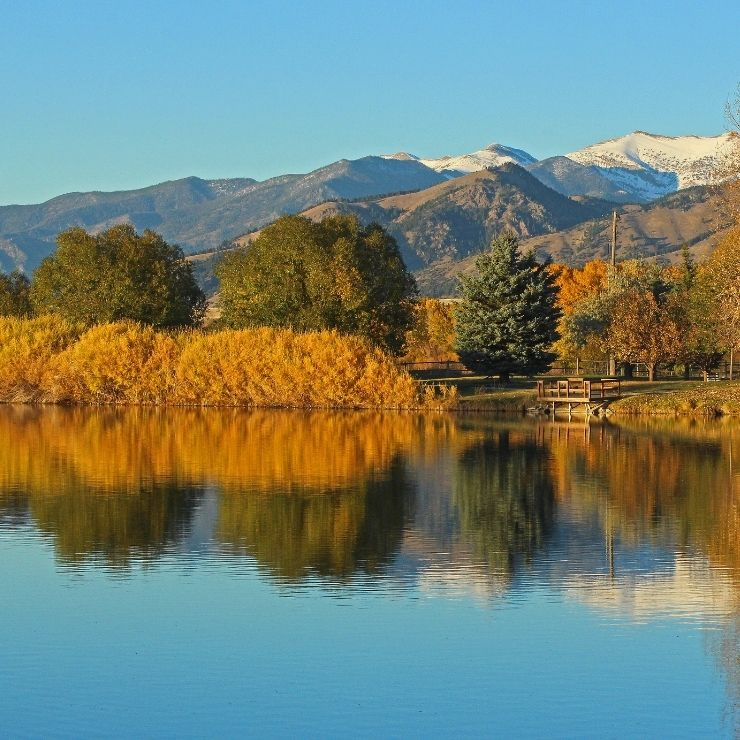 Bozeman, Montana: Fall Foliage in Gallatin Park.