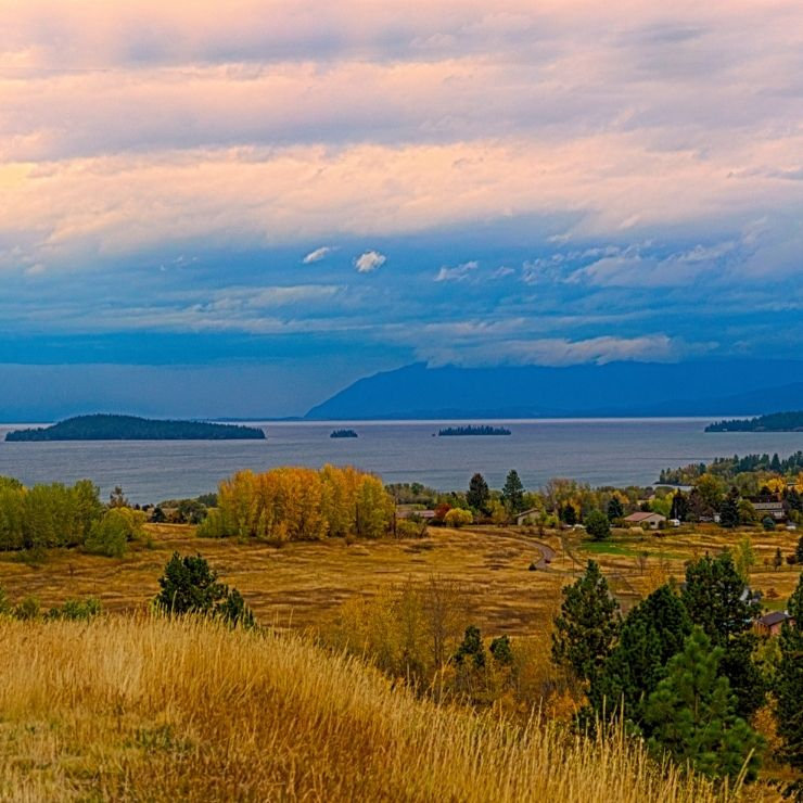 Fall Colors in Flathead Lake, Montana