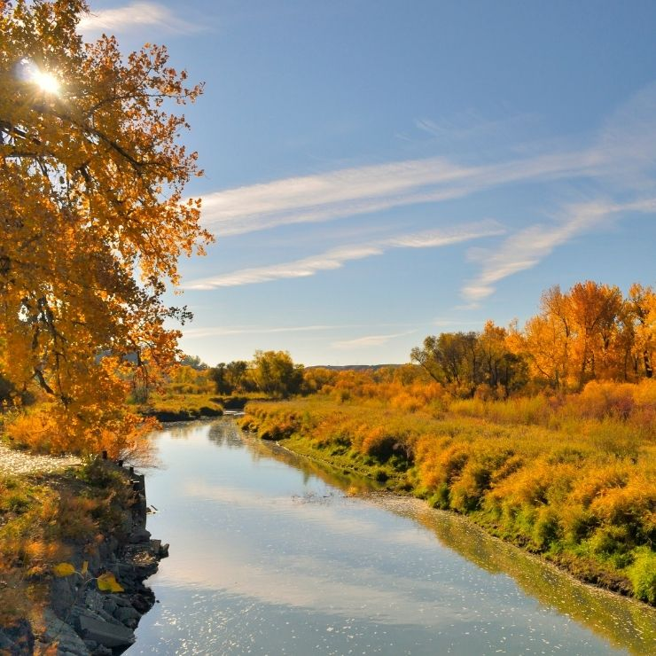 Riverfront Park in Billings, MT in Autumn