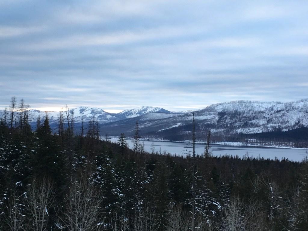 Winter hike in Glacier National Park