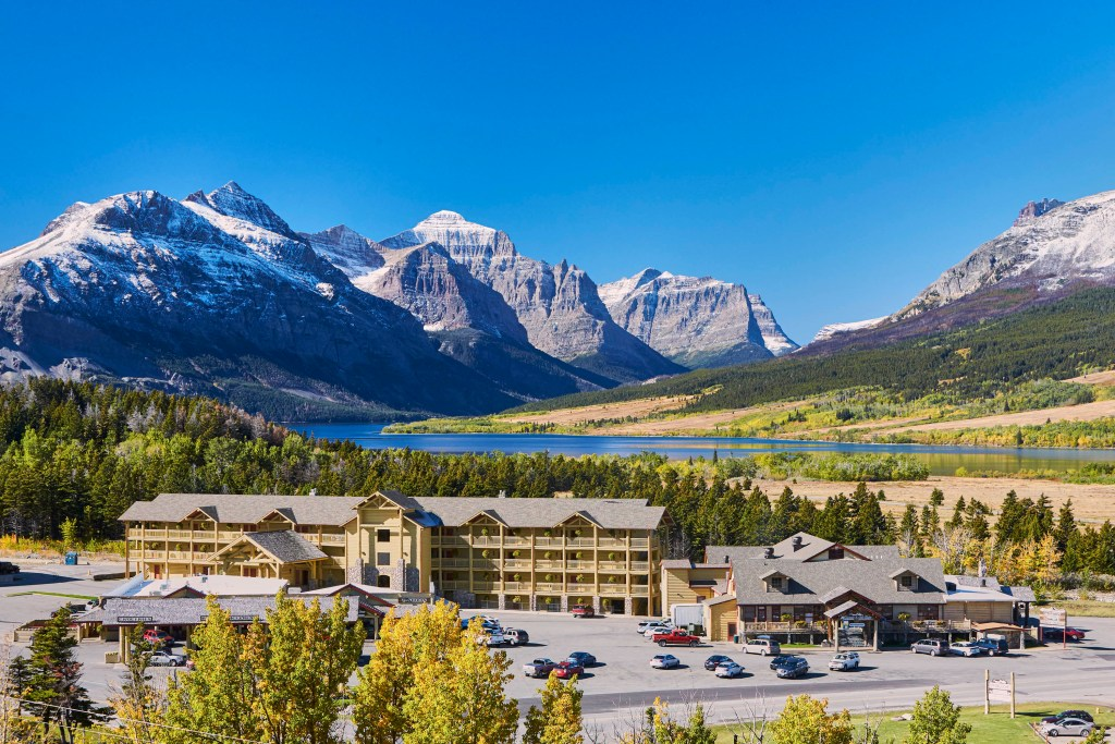St. Mary Village is a great hotel with tiny homes near the east entrance of Glacier National Park