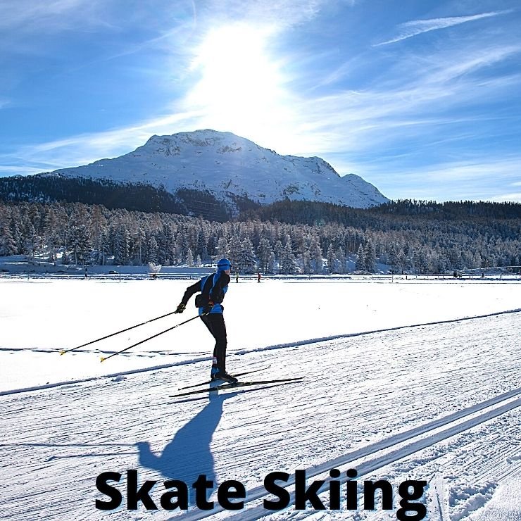 Skate skiing is a popular way to go cross country skiing in Montana.