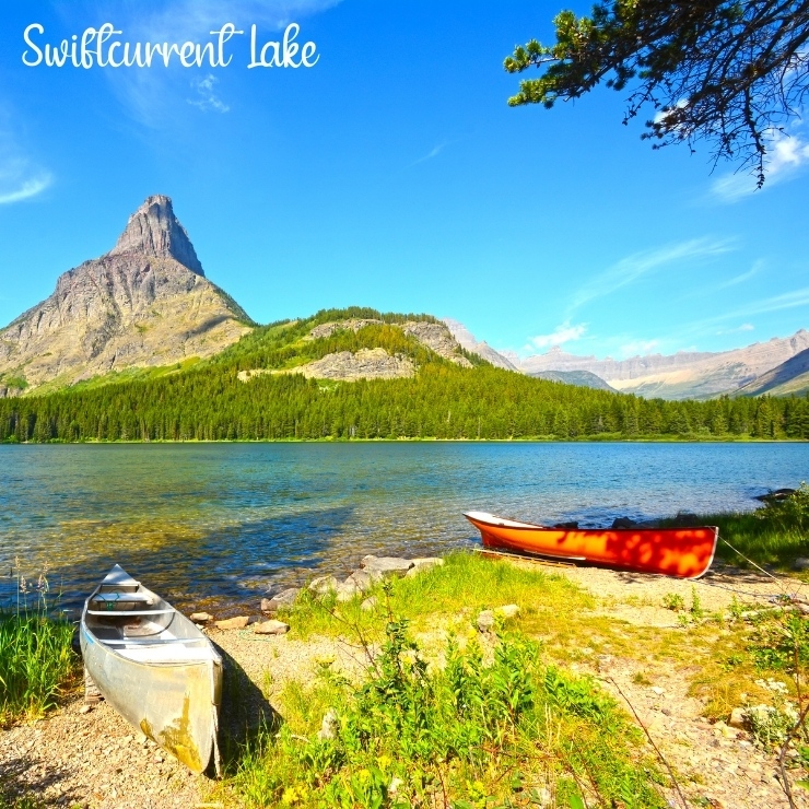 Swiftcurrent Lake is a family-friendly destination in Glacier National Park.