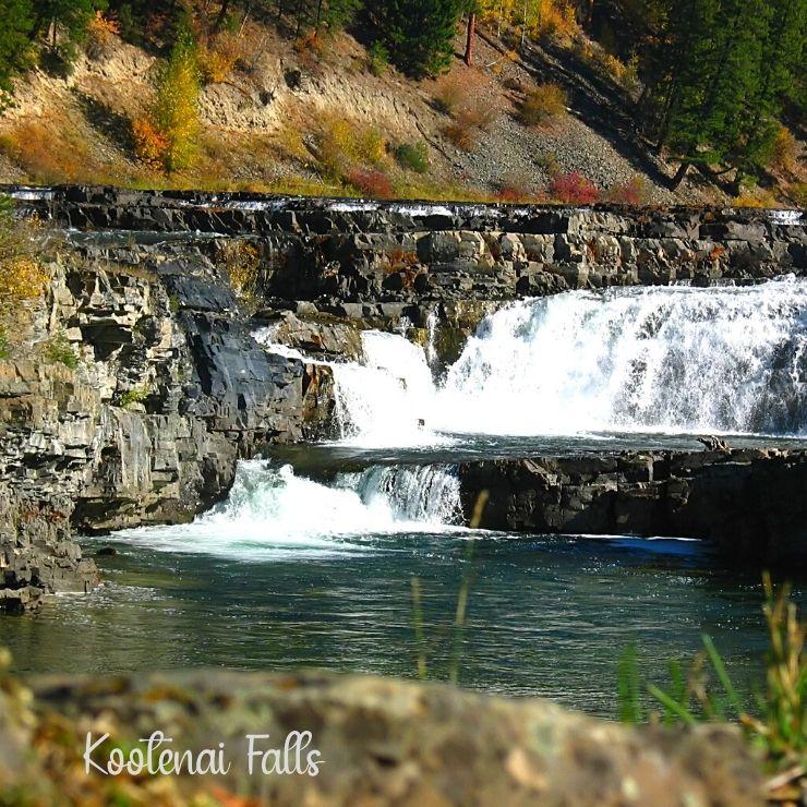 Hiking to Kootenai Falls is a fun fall activity to do in Montana.
