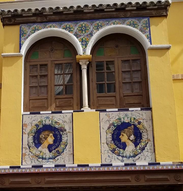 Ceramic tiled balcony