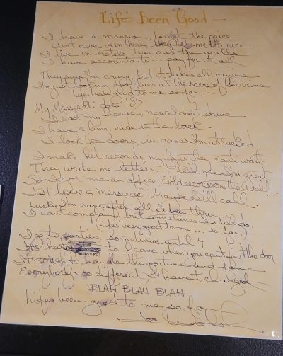 Lifes Been Good lyrics