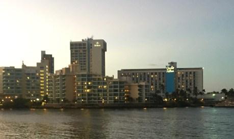 view from the bridge to Condado