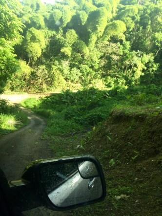 driving up to Cerro de Nandy