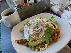 Cheeky's chilaquiles