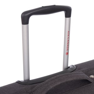 AIR CANADA 20 CARRY ON SOFTSIDE UPRIGHT SUITCASE CHARCOAL C0629 Handle