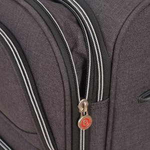 AIR CANADA 20 CARRY ON SOFTSIDE UPRIGHT SUITCASE CHARCOAL C0629 Zipper