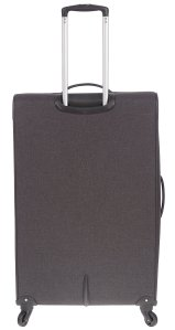 AIR CANADA 28 SOFTSIDE UPRIGHT SUITCASE CHARCOAL C0629 Back