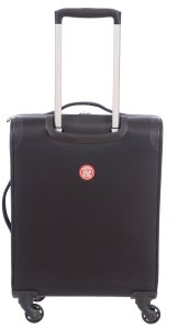 AIR CANADA BUSINESS ROLLER AND LAPTOP BACKPACK 2 PIECE LUGGAGE SET BLACK C0610S2 Back