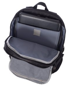 AIR CANADA BUSINESS ROLLER AND LAPTOP BACKPACK 2 PIECE LUGGAGE SET BLACK C0610S2 Inside Backpack
