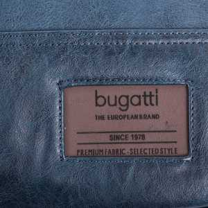 BUGATTI MOTO D BRIEFBAG IN SYNTHETIC LEATHER BLUE 49825705-Blue Front Logo