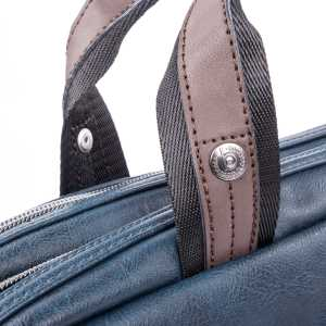 BUGATTI MOTO D BRIEFBAG IN SYNTHETIC LEATHER BLUE 49825705-Blue Handle 2