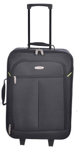 MILLENIUM 3 PIECE LUGGAGE SET - CHECKED & CARRY ON SUITCASES WITH TOTE BAG BLACK C0604S3BLK Front 2
