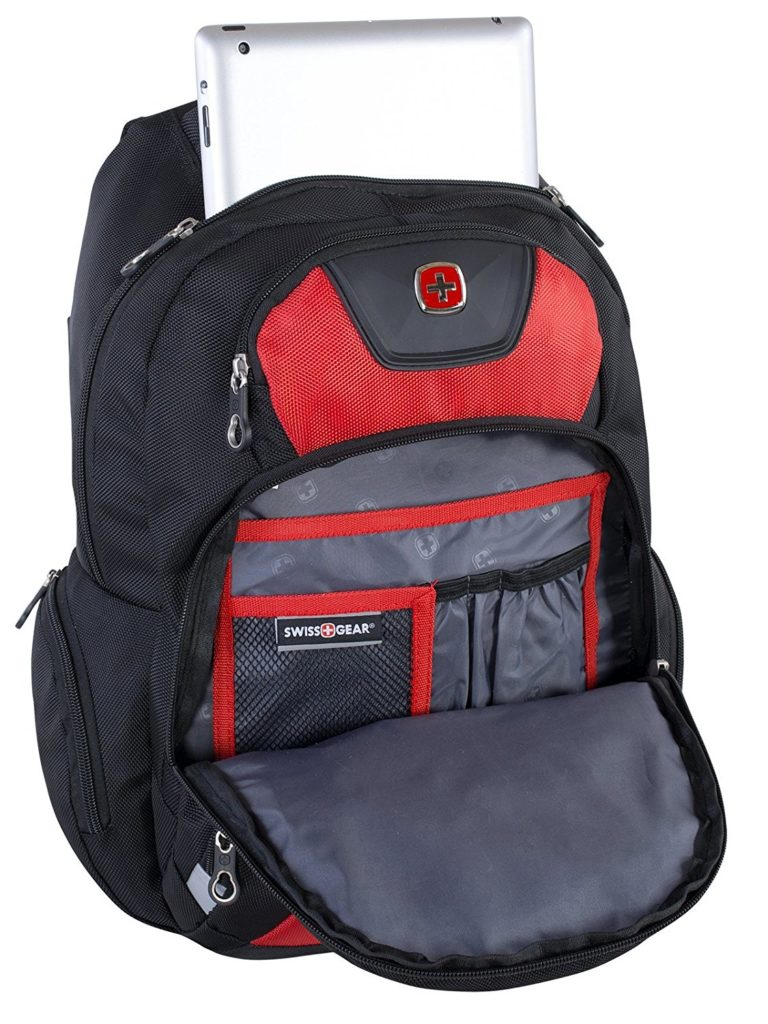 80532df16e Swiss Gear Polyester Backpack Red-Black SWA2512-167 Open