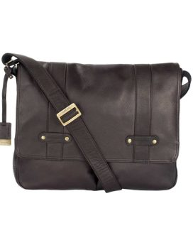 Bugatti Perreira Messenger Bag Leather MSG1210 Brown Front