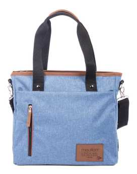 Bugatti Wander Tote Bag in Polyester TTE3150 Blue Front