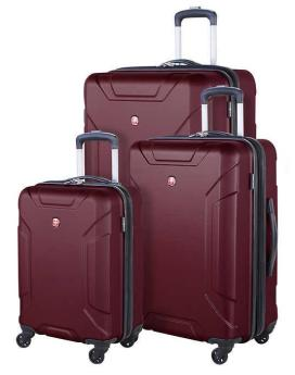 Swiss Gear Regensberg 3-Piece Hard Case Luggage Set Wine Set