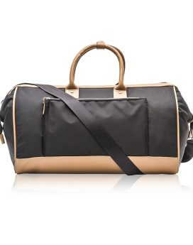 Cosmopolitan Fashion Twill Duffel Bag B0379-cos Black Front