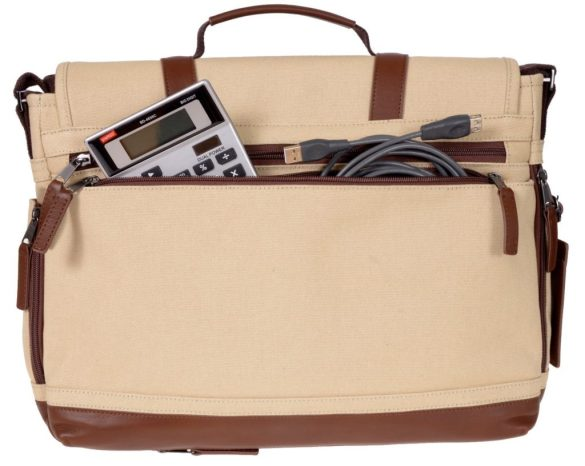 Renwick Messenger Shoulder Bag with RFID Protection E0500 RW Cream Back