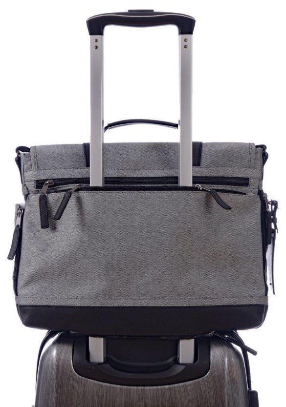 Renwick Messenger Shoulder Bag with RFID Protection E0500 RW Grey Handle